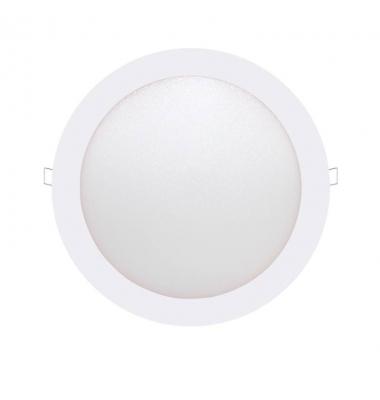 Panel Downlight LED Redondo Bid Blanco 12W - 860Lm Blanco Natural. Ángulo 160º