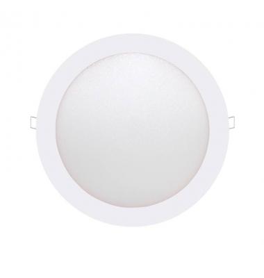 Panel Downlight LED Redondo Bid Blanco 18W - 1110Lm. Blanco Cálido. Ángulo 160º