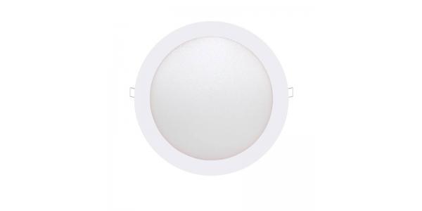 Downlight LED panel Blanco 18W - 1110Lm Bid. Blanco Cálido. Ángulo 160º