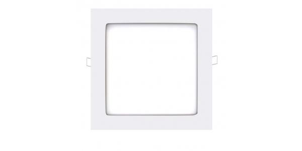 Panel Downlight LED Cuadrado Square Blanco 18W - 1290Lm. Blanco Natural. Ángulo 160º