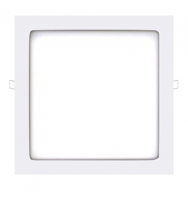 Panel Downlight LED Cuadrado Square Blanco 24W - 1720Lm. Blanco Natural. Ángulo 160º