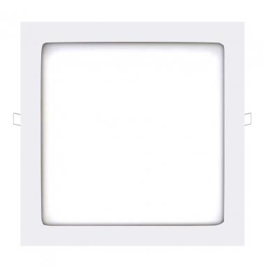 Panel Downlight LED Cuadrado Square Blanco 24W - 1720Lm. Blanco Natural. Ángulo 160º