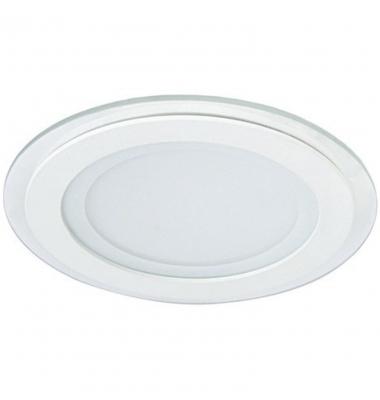 Downlight Panel Cristal LED Redondo 12W. Ángulo 120º