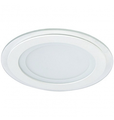 Downlight Panel Cristal LED Redondo 12W. Blanco Cálido. Ángulo 120º