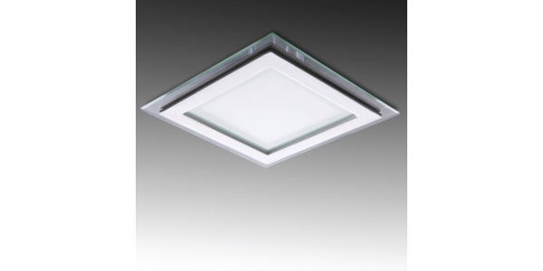 Downlight Panel Cristal LED Cuadrado 18W. Ángulo 120º