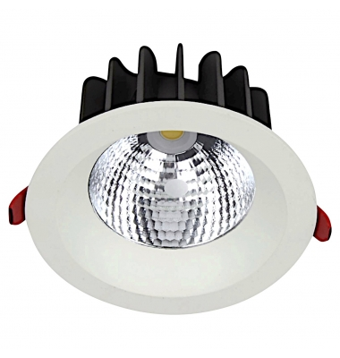 Downlight LED Ginna Blanco 30W COB. 2400 Lm. Ángulo 24º. LED Epistar