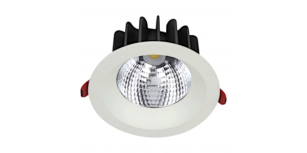 Downlight LED Ginna Blanco 30W COB. 2400 Lm. Ángulo 24º. LED Epistar