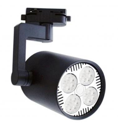 Foco Carril Orientable Monofásico, Bocca, Negro, Para Bombillas LED E27