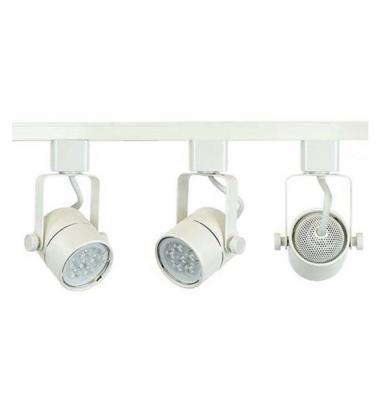 Foco Carril Orientable Monofásico, Tip, Blanco, Para Bombillas LED GU10