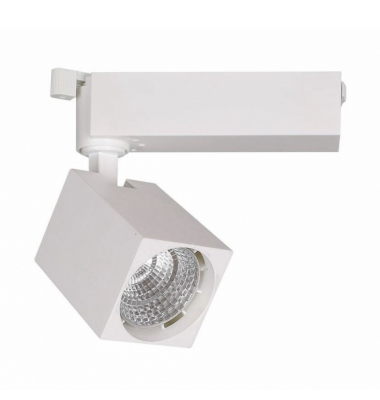 Foco Carril LED Maku 15W. Blanco Natural. 1190 Lm. Ángulo 40º
