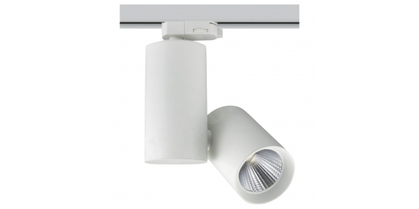 Foco Carril LED Alpe 20W. Blanco Natural. 1420 Lm. Ángulo 60º