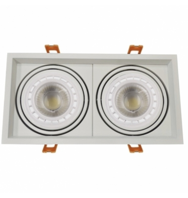 Foco LED Direccionable Traffic 2*15W. 2600 Lm. Ángulo 38º. Blanco Natural