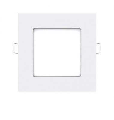 Foco Panel LED Cuadrado Square Blanco 6W - 370Lm. Blanco Natural. Ángulo 160º