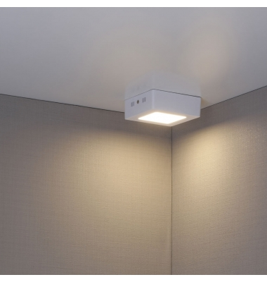 Foco Techo LED Square 6W - 480 Lm. Blanco Cálido. Ángulo 120º