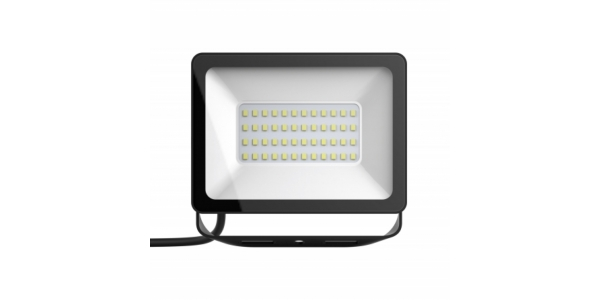 Foco Proyector Tablet, Negro Mate, LED Epistar 20W, Exterior, IP67