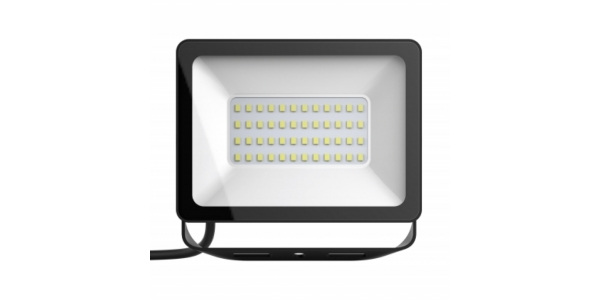 Foco Proyector Tablet, Negro Mate, LED Epistar 30W. Exterior, IP67