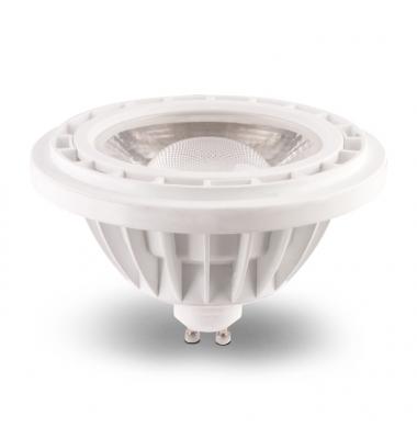 Bombilla LED AR111 Regulable 15W. 220V. Blanca. Luz Natural. Ángulo 38º