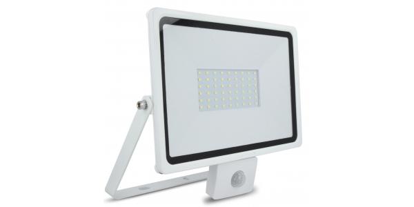 Foco Proyector LED HOME 50W IP65. Con Detector Movimiento PIR. Blanco Frío