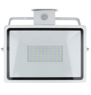 Foco Proyector LED HOME 50W IP65. Con Detector Movimiento PIR. Blanco Natural