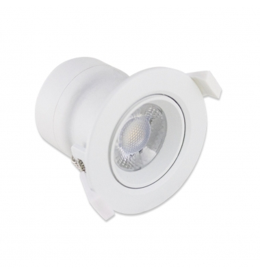 Foco Empotrar Direccionable LED TUB 5W. Blanco Natural. Ángulo 38º