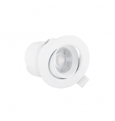 Foco Empotrar Direccionable LED, TUB, 5W. Blanco Natural de 4000k. Ángulo 38º