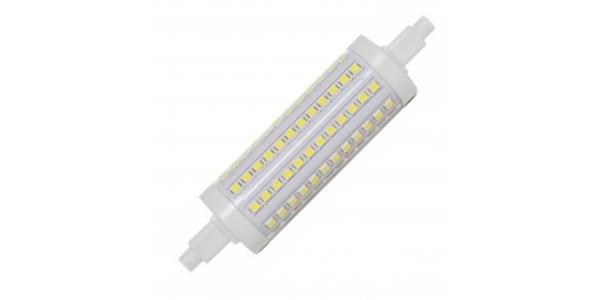 Bombilla LED R7s 12W 118mm. 1200 Lm. Blanco Cálido. Ángulo 360º