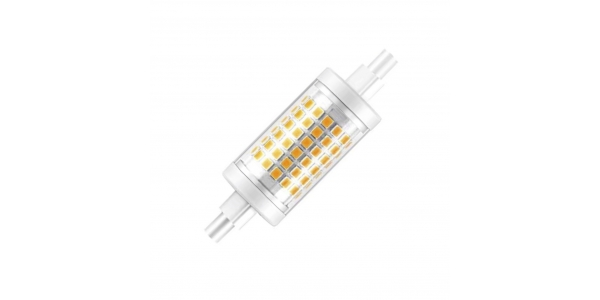 Bombilla LED R7s 7W 78mm. 700 Lm. Blanco Frío. Ángulo 360º