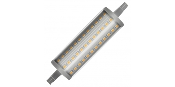 Bombilla LED R7s 15W 118mm. Regulable. Lineal