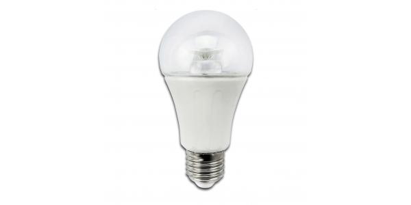Bombilla LED E27, A60, Estándar, 8W, 3000k, Blanco Cálido. Ángulo 280º