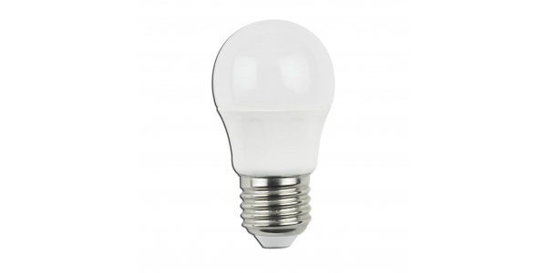 Bombilla LED E27 C45 4W. Ángulo 230º. Blanco Natural