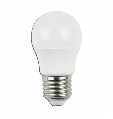 Bombilla LED E27 G45 4W. Ángulo 230º. Blanco Frío
