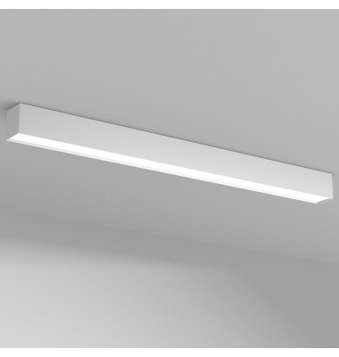 Colgante Oficina LED 40W Lin. Aluminio Blanco. Blanco Natural. 4180 Lm. Ángulo 120º. 120*7.5 cm