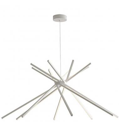 Lámpara Colgante Moderna SHANGHAI LED 50W. Blanco Natural. Acabado Blanco Mate