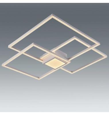 Plafón Diseño GLITTER de la marca Santelices. LED 52W. Con Mando CCT. Acabado Blanco Roto