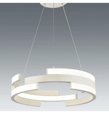 Lámpara Colgante Moderna COLISEUM II LED 45W. Blanco Natural. Acabado Blanco Roto