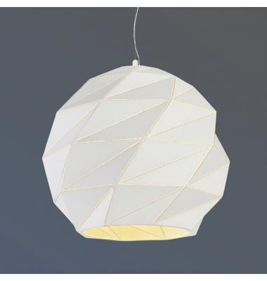 Lámpara Colgante Esfera de Metal. 1 Luz base E27. Acabado Blanco