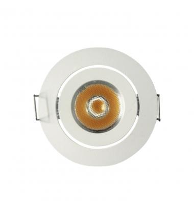 Foco Empotrar Direccionable LED Blanco MINI 1W. Ángulo 60º. 80 Lumen
