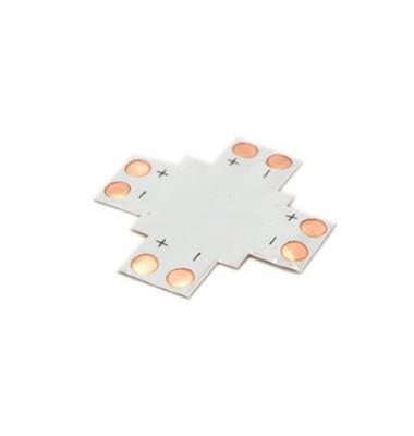 Unión conector 4 tiras LED Cruz. Tiras 8mm