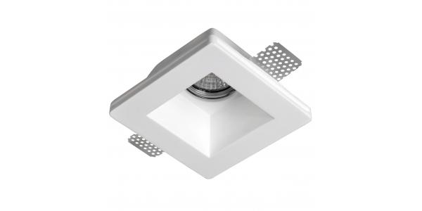 Foco Yeso Cuadrado LED Interior Cast. Sistema BombillaGU10