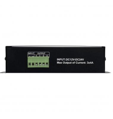 Controlador de 3 canales con interfaz DMX512 para LED RGB 12-24 V