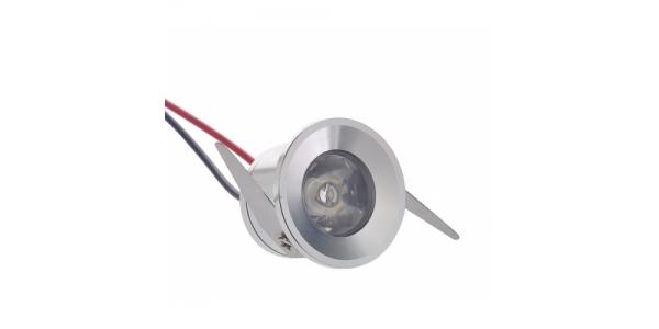 Foco Empotrar LED Waker II 1W Azul IP20. Ángulo 60º