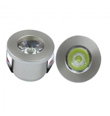 Foco Empotrar LED Waker II, 1W. Aluminio, IP20. Ángulo 40º, Azul