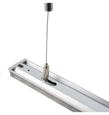 Kit Suspensión. 2 Piezas. Perfiles Aluminio y Focos de Carril. 1 metro longitud