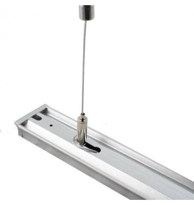 Kit Suspensión. 2 Piezas. Perfiles Aluminio y Focos de Carril. Longitud 1 mt.