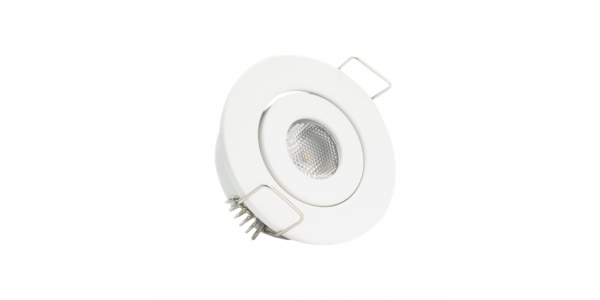 Foco Empotrar LED MINI, Basculante, 3W, Blanco Mate. Blanco Cálido de 3000k, Ángulo 60º