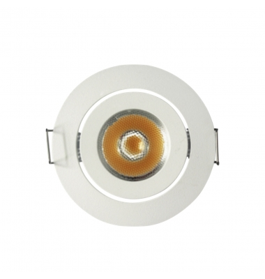 Foco Empotrar Direccionable LED Blanco MINI 3W. Ángulo 60º. 240 Lumen
