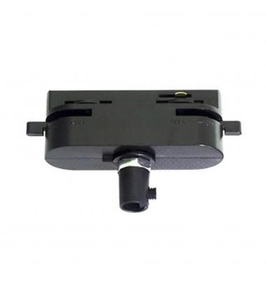 Conector Adaptador Carril Monofásico Negro. Colgantes, Proyectores