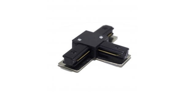 Conector Unión T, Carriles Monofásico, Negro