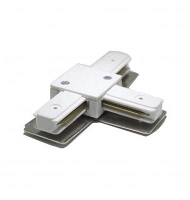 Conector Unión T, Carriles Monofásico. Blanco y Negro