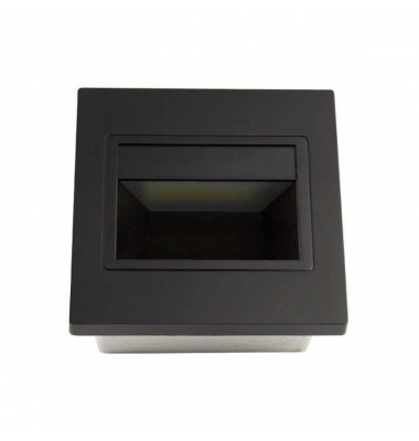 Baliza LED Interior Hydra 1.5W - 165Lm. Acabado Negro. Sistema Empotrable